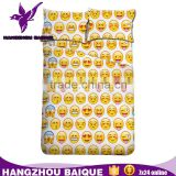 Twin Full Queen King 3D Emoji Design On Sale Modern Bed Sheet Sets