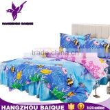 All Size Submarine World Cartoon Kids Bed Skirt Duvet Covers Sets