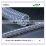 Hot sale Clear and Transparent PVC Steel Wire Hose used as building materials or drainage