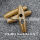 FASHION CAFE WOOD TOGGLE BUTTON FOR GARMENT ACCESSORIES
