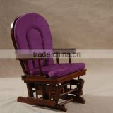 Baby Glider Chair with Ottoman in purple color