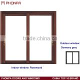 Outdoor sliding door, aluminum sliding door design, wood aluminum two track sliding door
