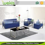 Fashionable simple style low price blue color used leather latest design sofa set italy