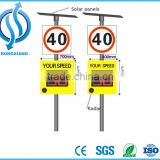 Outdoor LED Warning Sign Solar Power Radar Speed Sign Portable Traffic Flashing Speed Limit Signs