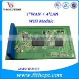 1 WAN + 4 LAN WIFI Module Extend Wireless Fidelity Function in Any Telecommunication Products