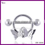 Stainless Steel Body Jewelry Unique Nipple Stretching Piercing