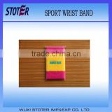 High Quality Soft Cotton Sports Wrist Band for promotion