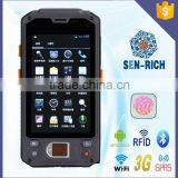 Android PDA Barcode Scanner support Fingerprint Recognition,Bluetooth,WIFI,3G,GPS