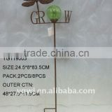 metal antique dragonfly solar stake for garden decoration
