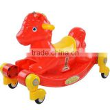 Plastic Hobbyhorse,plastic rocking horse for baby,kids function ride on toy made in China