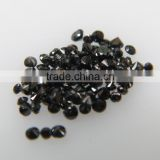0.7-1mm Natural Loose Round Cut Fancy Black Diamond