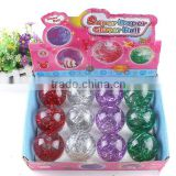 55mm lucency fish crystal led flashing light Bouncy Ball baby kids toys water ball