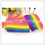 Pocket tissue paper rainbowr printed decoupage tissue paper