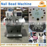 Automatic nail bead attaching machine for for clothing, shoes, leather industry