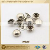 Metal dome rivet for apparel bag shoe, various Fashion designs customized