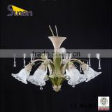 SD1095-6 Used In The Living Room Countryside Style Ivory White Brush Gold Flower Decorative Chandelier/Indoor Lamp