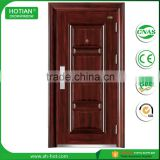 Import building material steel front house door designs wrought iron entrance security steel door