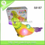 Good selling toys B/O toys Parrot with projuction and light