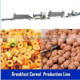 2014 Hot Sale 200-500kg Kellogg Roasted Breakfast Cereal Corn Flakes Snack Food Extruder Machine Production Processing Line