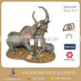 9.5 Inch Resin Craft Indoor Home Decoration Elephant Statues Animal Sculpture