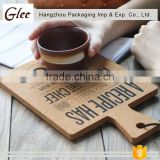 Custom sublimation blank cork coasters soft wood table mat