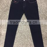 GZY Dark Blue Straight Simple Women Jeans Denim For South America Stock 2017