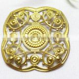 hollow out brass flower shoe bag garment accessories