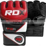 custom mma gloves Leather Gel Tech MMA 7oz Grappling Gloves Fight Boxing UFC Punch Bag