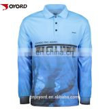 Women long sleeve custom design fishing jersey