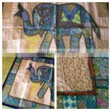 Vintage Elephant Runner Tapestry Bohemian Patchwork Wall Hanging