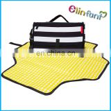 Eco-friendly Portable Chevron Changing Clutch Bag For Travel Diaper Changing Kits