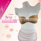 ES6616 2016 China wholesale Fashion and Sexy Adhesive Nude Invisible Silicone Bra for Swimwear