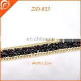 metal chain with rhinestone for garment women necklace decoration