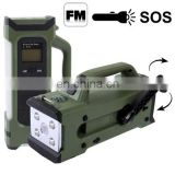 9 in 1 LED Multiple Function Light System with FM Radio, LED Flashlight + Compass + Hand Wind Generator + SOS Function