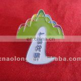 factory directly sale custom painted logo magnetic badge,metal medals with butterfly clasp
