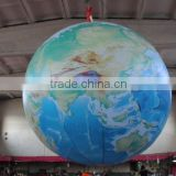 outdoor giant inflatable earth balloon, inflatable globe ball balloon inflatable floating helium balloon