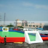 0.55mm pvc tarpaulin inflatable soapy soccer pitch,inflatable air football field for body sports