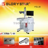 CE certificate 20w IPG 110*110mm fiber laser marking machine for mold injection industry