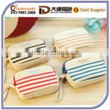 2014 fashion canvas small pouch and canvas coin purse with stripe ,canvas stripe wallet