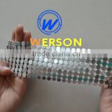 silver decorative metal mesh fabric flakes sales | generalmesh