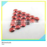 Rhinestud Hot Fix Red Round Flatback Metallic Ss6 2mm 600 Gross Package
