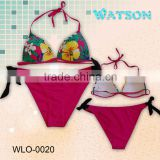 fashion 2014 woman swimwear with underwire bikini