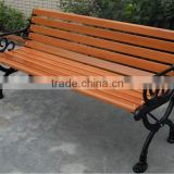 outdoor Iron combined with wood garden backrest bench chairs
