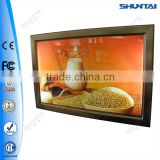 glass clip photo frames aluminum display box