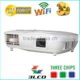China market of electronic 3 LED 3 LCD 1920 X 1080 WQXGA 3000 Lumens personal micro led projector