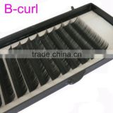 False eyelashes for sale 11mm 12mm B C D Curl MINK Individual Eyelash Handmade Artificial Fiber False Eyelashes on sale