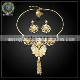 african wedding fashion costume jewelry set wholesale , Dubai gold plated fashion jewelry sets , 18k gold plating bridal jewerly