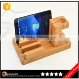 2016 Luxury bamboo material stand holder for apple watch iphone
