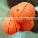 pet accessories products--6.5CM basketball dog chew toy