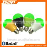 ShenZhen factory hot sale multi-colors bluetooth bulb dimmable color change APP LED light